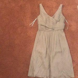 J. Crew grey chiffon dress 2